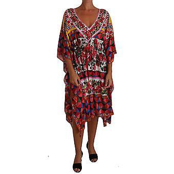 Dolce & Gabbana Sicily Carretto Tunic Silk Floral Dress