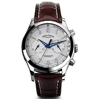 Armand watch nicolet m02-3 9744a-ag-p974mr2 automatic chronograph watch for Swiss Automatic Automatic Analog Man watch with cowhide bracelet 9744A-AG-P974MR2