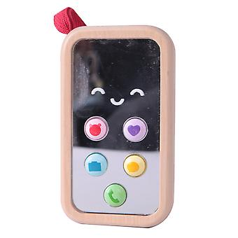 Classic World - My First Mobile Cell Phone Toy, Baby Children's Wooden Simulation Phone with Playful Sounds