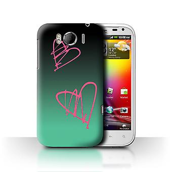 STUFF4 Fall/Cover für HTC Sensation XL/G21/Pink Hearts/Abstract Ombre