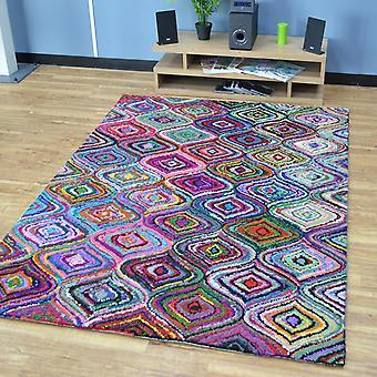 Katoen Chindi Aston veelkleurige tapijten 01