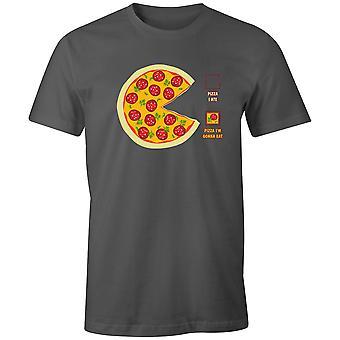 Pojat Crew Neck Tee Lyhythihainen Miesten T-paita- Pizza Söin, Pizza I'm aion syödä