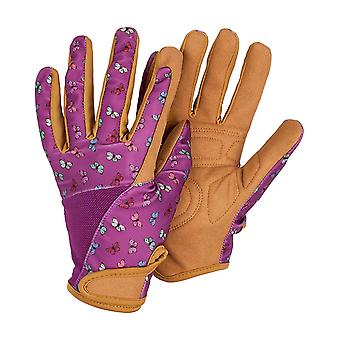 Womens/Ladies Medium Gardening Gloves Work Gloves Butterfly Patterned Breathable Fabric