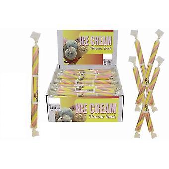 20 Small Flavoured Rock Sticks - Ice cream Flavour