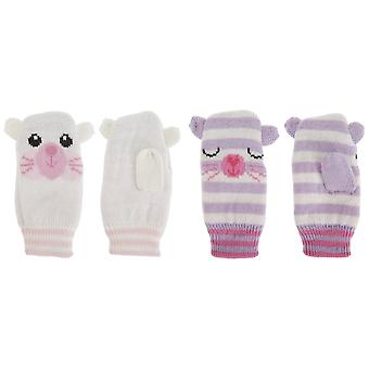 Baby Girls Knitted Animal Design Winter Mittens