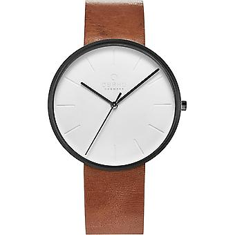 Obaku Hassel Tawny Men's Brown Strap Wristwatch V219GXBIRZ