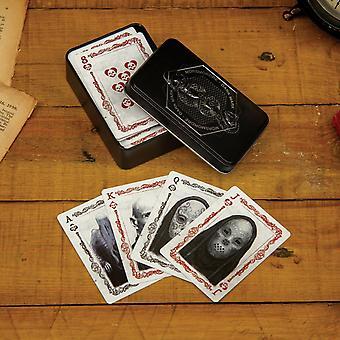 Dark Arts Harry Potter carte da gioco Poker Full Deck & Collezionisti di metallo Tin