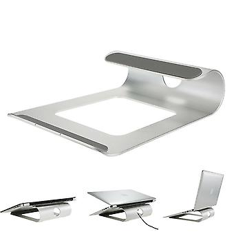 Portable aluminum laptop stand tablet holder heat dissipation for 11.0-15.6 inch laptop tablet macbook air/macbook pro for ipad pro 12.9 inch (silver)