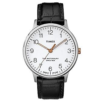 Timex Men's Quartz Analog Clock with Leather Strap TW2R71300