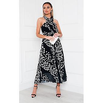 IKRUSH Womens Sorsha Geplooide Crossover Geprintmaxi jurk