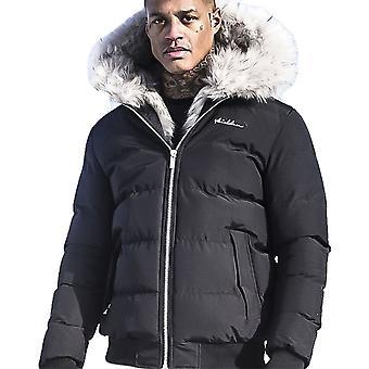 4BIDEN Rage Fur Hooded Black Jacket