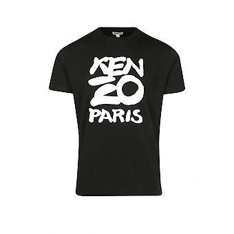 Kenzo Printed Logo Black T-shirt