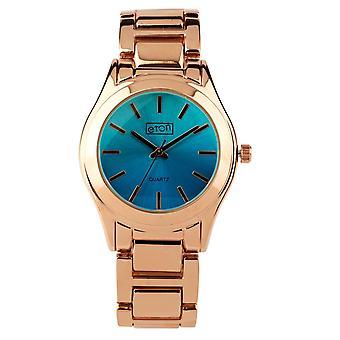 Eton Fashion Watch, Rose Gold Finish, Shaded Jade Coloured Dial 3216J-JD