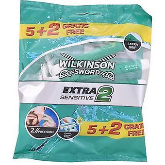 Disponibel Razor Extra2 Sensitive Wilkinson Sverd (7 uds)