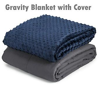 Premium Weighted Blanket Gravity Blankets With Cotton Cover Sensory Sleep Relax 12.69kg, 152cm x 203cm(L x W)