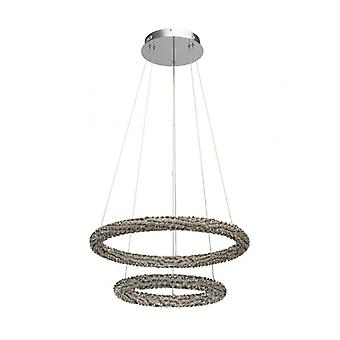 Chrome Pendant Lamp Crystal 150 Cm