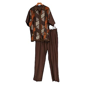Stacy Adams Men's Morning Suits Diamond Knit Set Brown