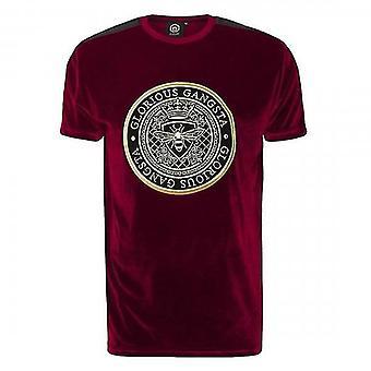 Glorious Gangsta Mareno Dark Red Velour T-shirt