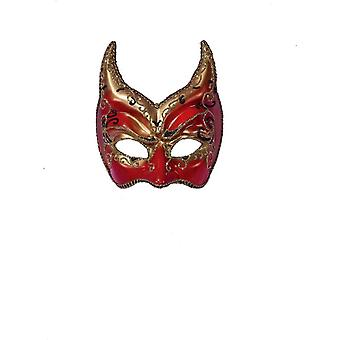 Ven Mask Red Gold Points For Masquerade