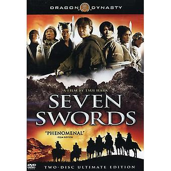 Syv sverd [DVD] USA importere
