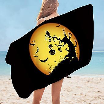 Scary Halloween Microfiber Beach Towel