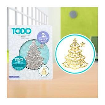 TODO Hot Foil Press Decorative Christmas Tree