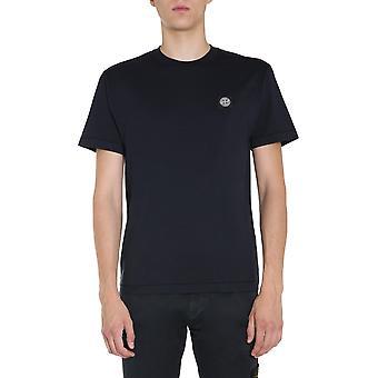 Stone Island 731524113v0020 Männer's blaue Baumwolle T-shirt