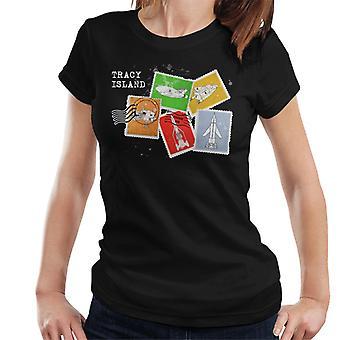 Thunderbirds Vehicle Stamps Women's T-Shirt