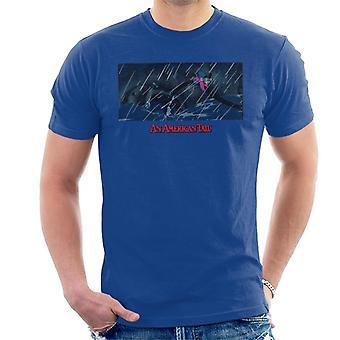 An American Tail Fievel Holding On Men's T-Shirt