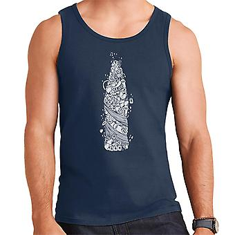 Pepsi blanc Doodle Vest bouteille masculine