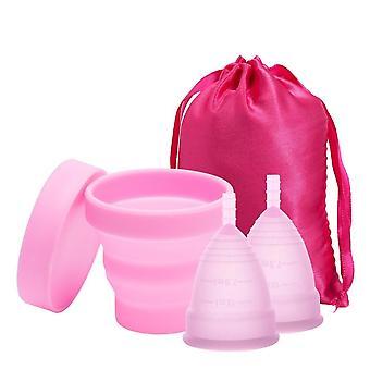 Copa menstrual de silicona médica - Copa menstrual de higiene femenina esterilizante para mujeres período menstrual