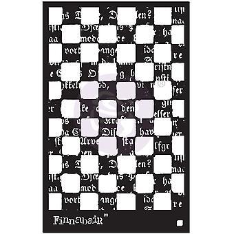 """Finnabair Stencil 6""""X9"""" - Mind Games"""