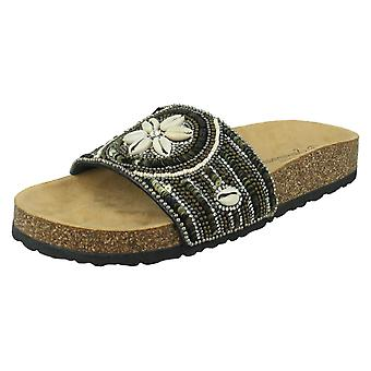 Ladies Savannah Shell Mules F00320