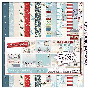 DayKa Trade Dulce Navidad 12x12 Inch Paper Pack
