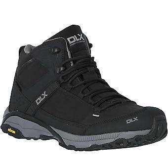 DLX Renton Mens Vibram Waterproof Outdoor Walking Hiking Boots - Black