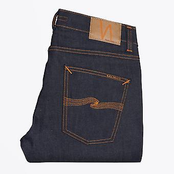 Nudie Jeans - Lean Dean - Dry 16 Dips Jeans - Deep Blue
