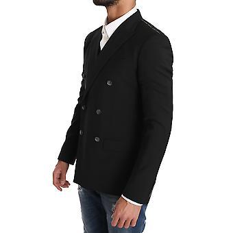 Dolce & Gabbana Siyah Yün Blazer Yelek 2 Parça Kuş Baskı KOS1178-1