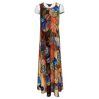 Attitudes By Renee Women's Regular Dress Printed Maxi Orange A375406