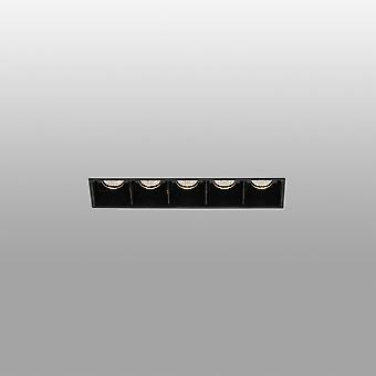 Faro Troop - LED Noir encastré Downlight Trimless 5x 2W 3000K