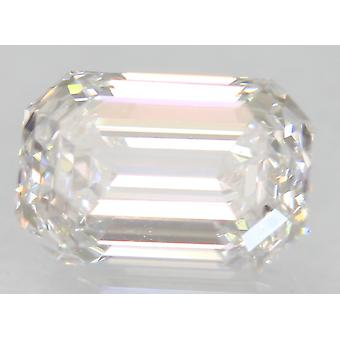 Certificado 1.01 Carat D VS1 Esmeralda Diamante Suelto Natural Mejorado 6.8x4.7mm 2EX