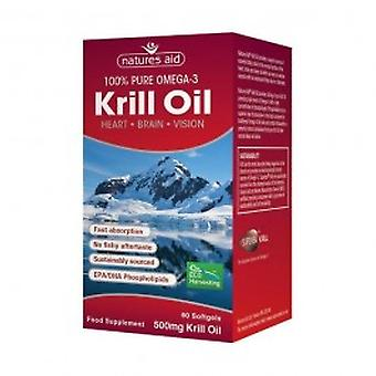 Natures Aid - Krill Oil 500mg (Superba) Capsules 60s