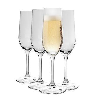 Bormioli Rocco Nadia Champagne Flautas Set Vidrio sin plomo ? 205ml (7 oz) - Paquete de 8