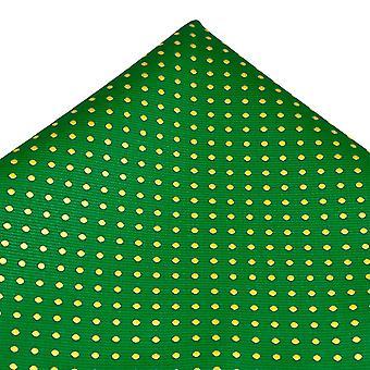 Solmiot Planet Vihreä & Keltainen Polka Piste Tasku Neliö Nenäliina