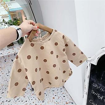 Children's Autumn Products Korean Style Polka Dot Long-sleeved Shirt