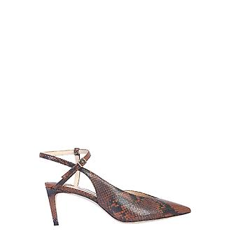 Jimmy Choo Sakeyankecuoio Women's Brown Leather Sandals