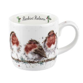 Wrendale Designs Rockin' Robins Mug