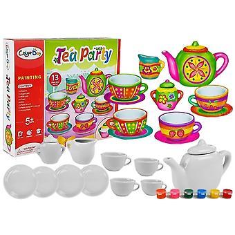 Tea Time Creative Set Cups pour diy painting