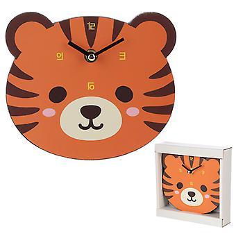 Cute Tiger Shaped Wall Clock X 1 Pack