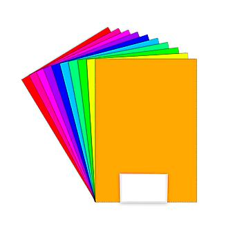 10 A4 Assorted Colour Card Sheets for Crafts - 160gsm