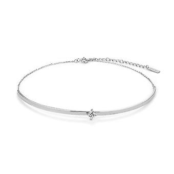 Ania Haie Sterling Silver Rhodium Plated Cluster Choker N018-04H